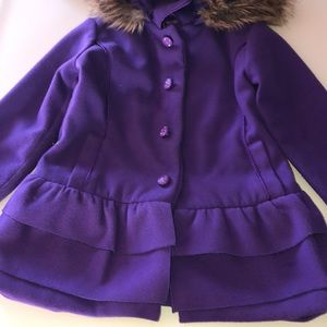 Dollhouse purple peplum coat